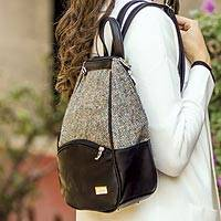 Irish Herringbone Tweed Backpack - Irish Herringbone Tweed Backpack