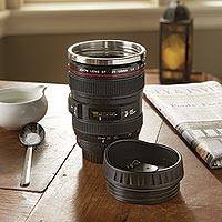 Travel mug, 'Camera Lens' - Realistic Camera Lens Travel Mug