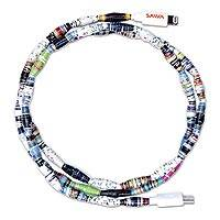 SAWA Android recycled paper beaded charging cable (3 feet) - SAWA Type C Android Charging Cable (3 ft)