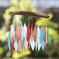 Glass and driftwood wind chime, Nature Walk