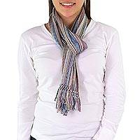 Cotton scarf, 'Lavender Mystique' - Cotton scarf