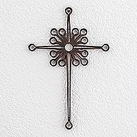 Wrought iron cross, 'Christian Dynamic'