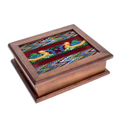 wood and cotton tea box maya ducklings handmade wood decorative box with - Decorative Box