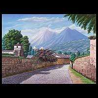 'Las Animas Street' (2008) - Guatemala Fine Art Painting