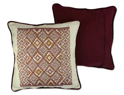 Cotton cushion covers, 'Twilight Stars' (pair) - Cotton cushion covers (Pair)