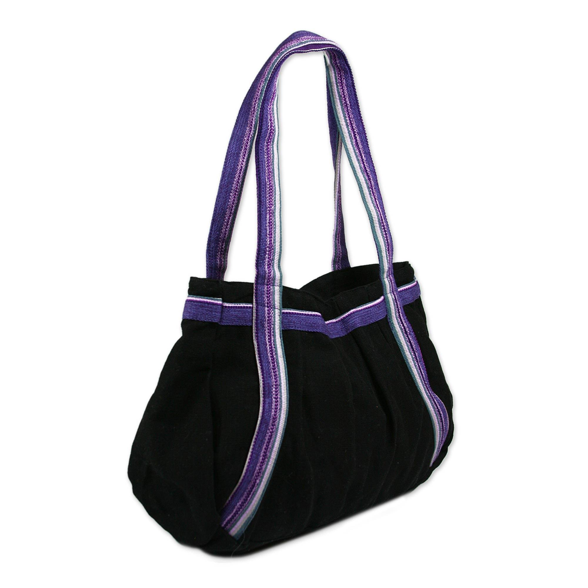 Unique Cotton Shoulder Bag Midnight Sonnet Novica Ready Nwt Maya Hobo Brown