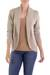 Cotton cardigan sweater, 'Maya Beige' - Women's Natural Cotton Cardigan Sweater (image 2a) thumbail