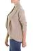 Cotton cardigan sweater, 'Maya Beige' - Women's Natural Cotton Cardigan Sweater (image 2b) thumbail