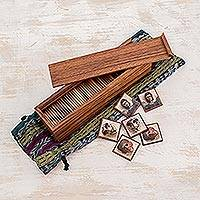 Wood memory game, 'Saints and Masks' - Wood memory game