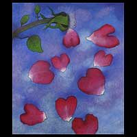 'Beautiful Emotions' (2007) - Original Floral Expressionist Painting