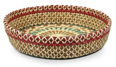 Natural fiber basket, 'Radiant Nature' - Central American Natural fibre Basket