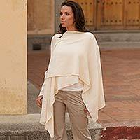 Cotton jacket, 'Wrap Her' - Artisan Crafted Cotton Sweater from Central America