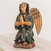 Wood sculpture, 'Angel of Hope' - Fair Trade Handcrafted Wood Angel Sculpture