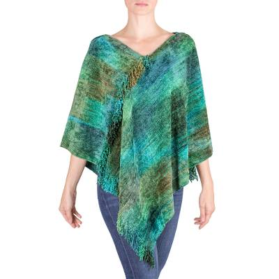 Handcrafted Cotton Blend Poncho
