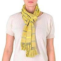 Cotton scarf, 'Sunny Day' - Cotton scarf