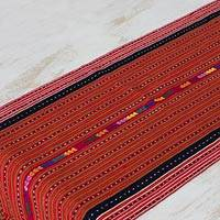Cotton table runner, 'Festival of Colors' - Cotton table runner