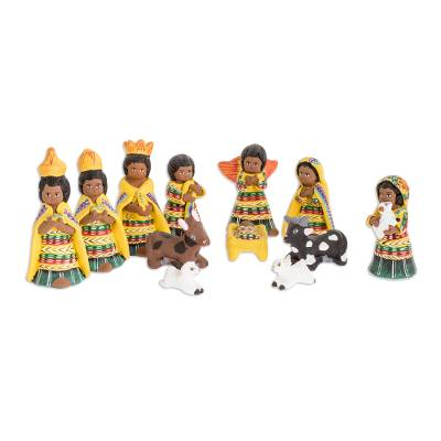Ceramic nativity scene (Set of 12)