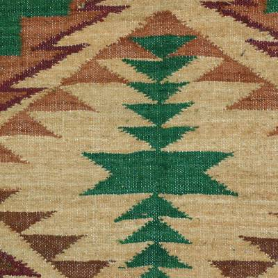 Wool Area Rug Crafted In Guatemala Earth S Gift