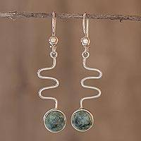Jade dangle earrings, 'New Love' - Jade dangle earrings