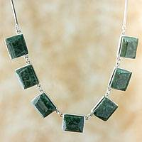Jade pendant necklace, 'Love Immortal'