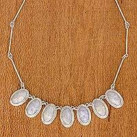 Lavender jade pendant necklace, 'Eternal Love' - Hand Crafted Sterling Silver Lavender Jade Necklace
