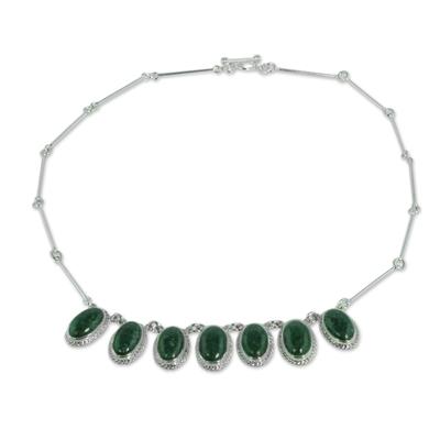 Jade pendant necklace, 'Eternal Love' - Jade Sterling Silver Necklace