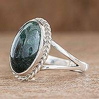 Jade cocktail ring, 'Eternal Love'