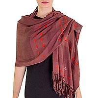 Shawl, 'Brown Contrasts' - Shawl