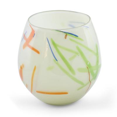 Handblown Recycled Glass Art Vase
