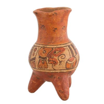 Unique Decorative Guatemalan Ceramic Vase