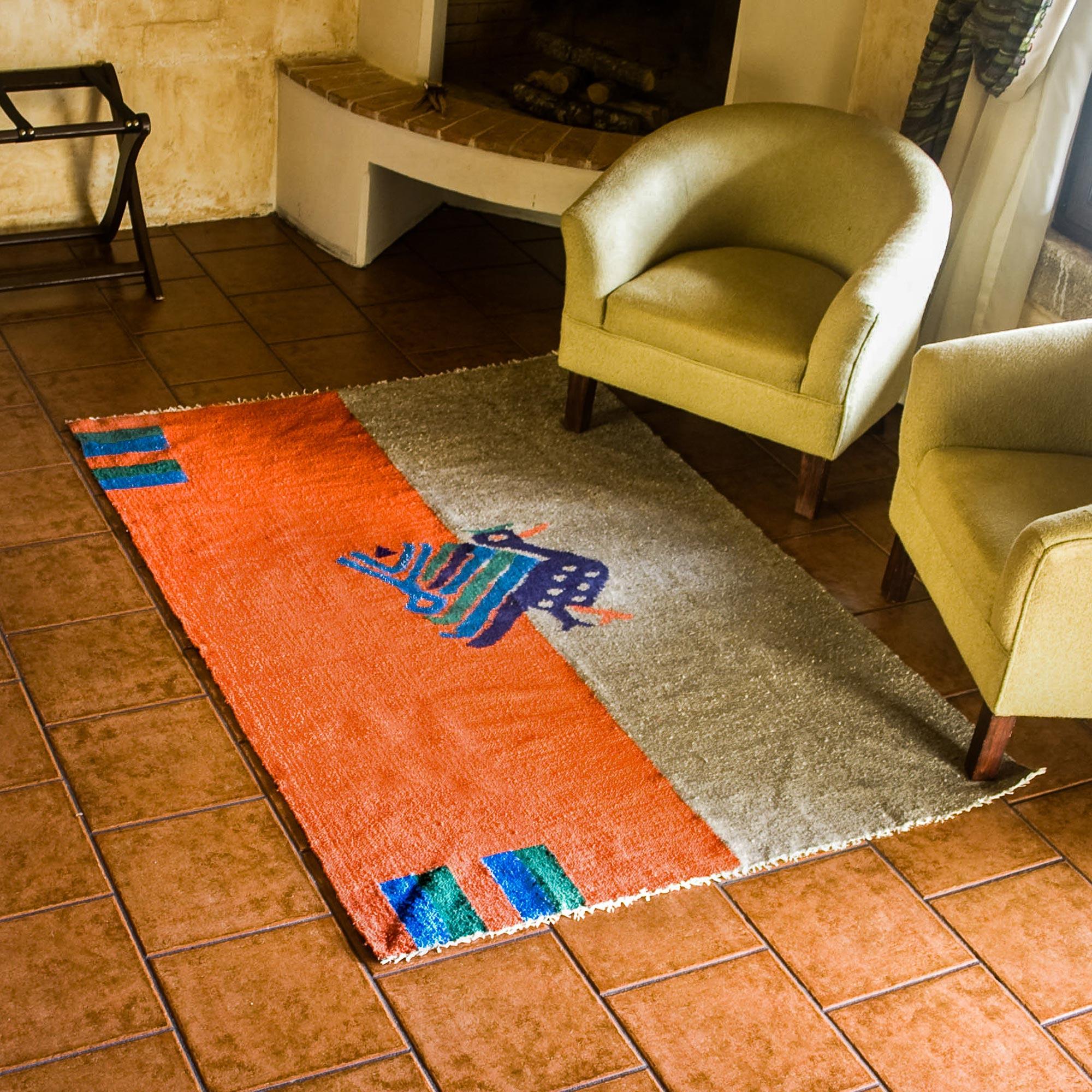 Animal Themed Wool Area Rug - Maya