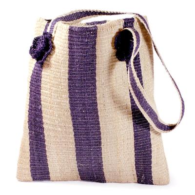 Novica Maguey shoulder bag, Indigo Path