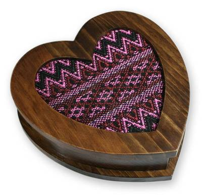 Collectible Heart Shaped Wood Jewelry Box