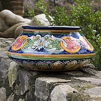 Ceramic flower pot, 'Creation'