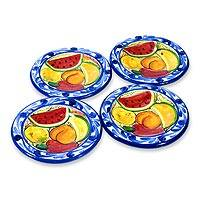 Ceramic dessert plates, 'Harvest' (set of 4) - Handmade Ceramic Dessert Plates (Set of 4)