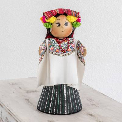 Pinewood and cotton display doll, 'Coban' - Pinewood and cotton display doll