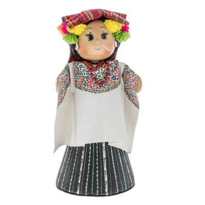 Pinewood and cotton display doll, 'Coban' - Pinewood and cotton display doll