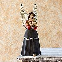 Ceramic figurine, 'Santa Maria Chiquimula' - Fair Trade Central American Angel Ceramic Sculpture