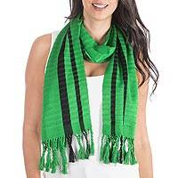 Scarf, 'Emerald Hummingbirds'
