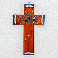 Pinewood cross, 'Dove of Peace' - Pinewood cross