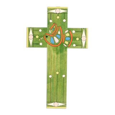 Hand Painted Christianity Wood Cross