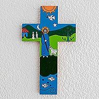 Pinewood cross, 'The Good Shepherd'