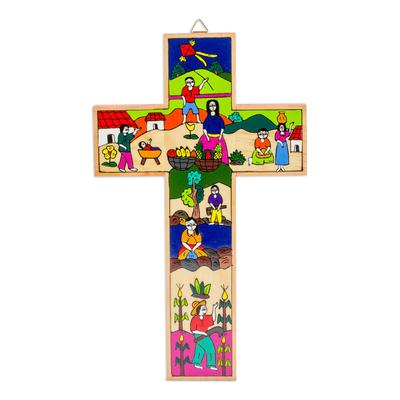 Fair Trade Hand Painted Wood Cross