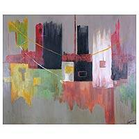 'Houses' - Original Abstract Painting