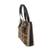 Jute and leather  shoulder bag, 'Clean Coffee' - Recycled Jute and Leather Shoulder Bag from Guatemala (image 2b) thumbail
