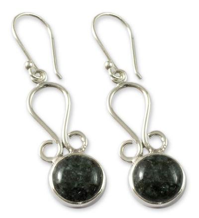 Jade dangle earrings, 'Polochic River' - Jade dangle earrings