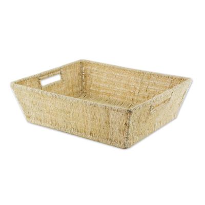 Artisan Crafted Natural Fiber Basket
