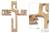 Mahogany wall sculpture, 'Cross of Jesus' - Mahogany Religious Wood Cross Wall Sculpture thumbail