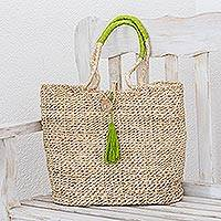 Maguey shoulder bag, 'San Cristobal Summer' - Maguey shoulder bag
