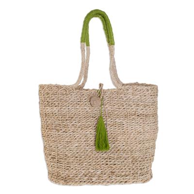 Maguey shoulder bag, 'San Cristobal Summer' - Maguey shoulder bag